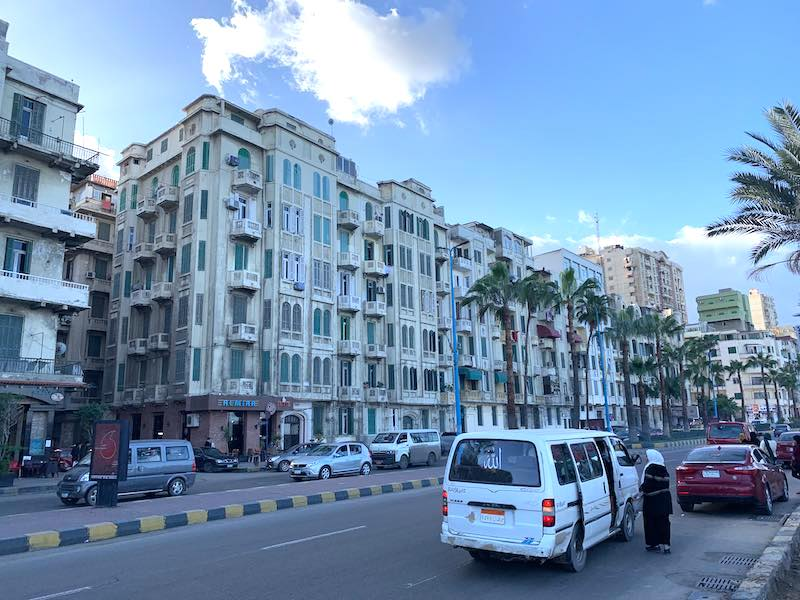 One of the best things to do in Egypt is to visit beautiful Alexandria Corniche