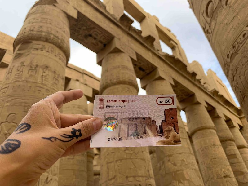 visiting Karnak temple is one of the best things to do in Egypt