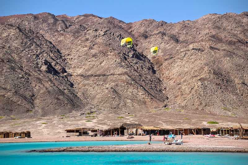Swimming in the Blue Lagoon in Dahab is one of the best things to do in Egypt