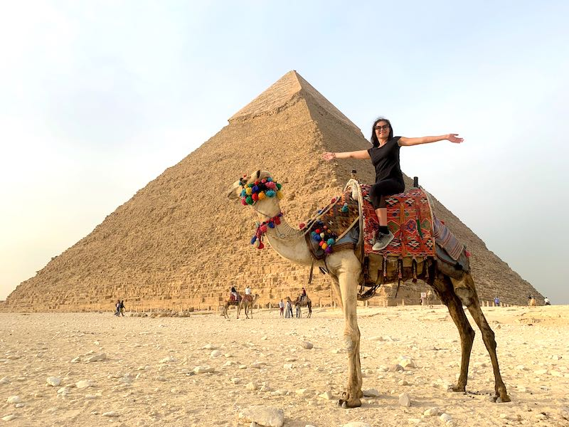 Visiting Giza pyramids is one of the best things to do in Egypt