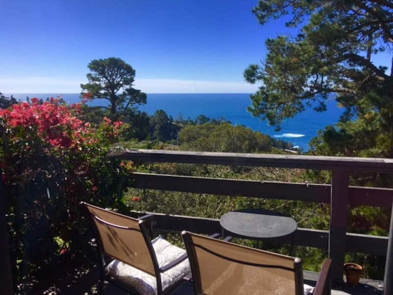 Balcony of the French Style Big Sur airbnb