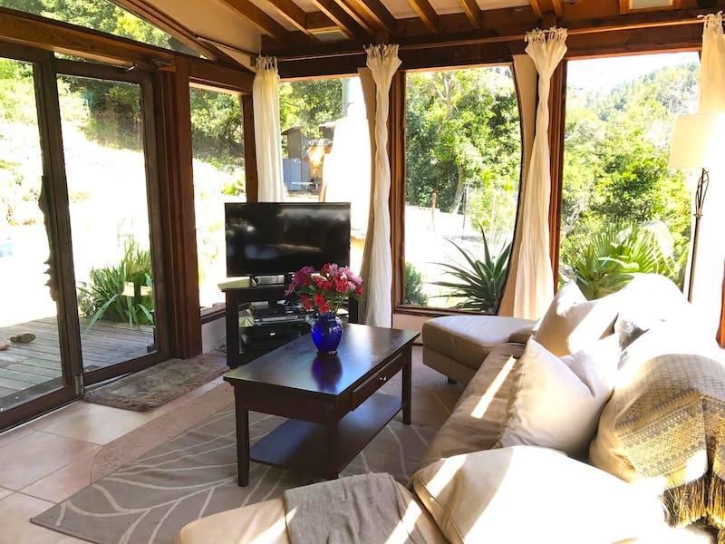 Living Room of Big Sur Dream House