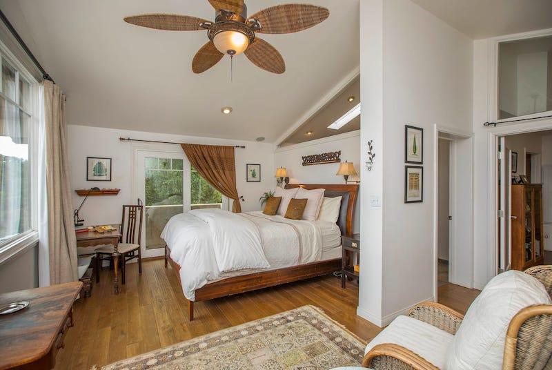 Master bedroom of the hilltop retreat