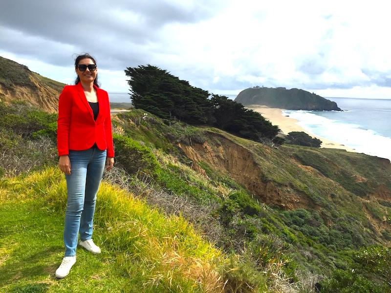 Milijana Gabrić on the Pacific Coast