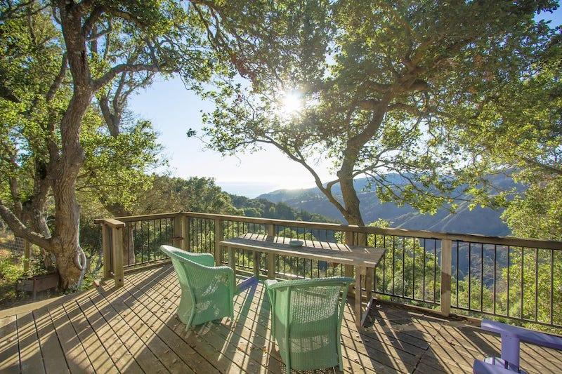 Porch of Big Sur Airbnb Farm
