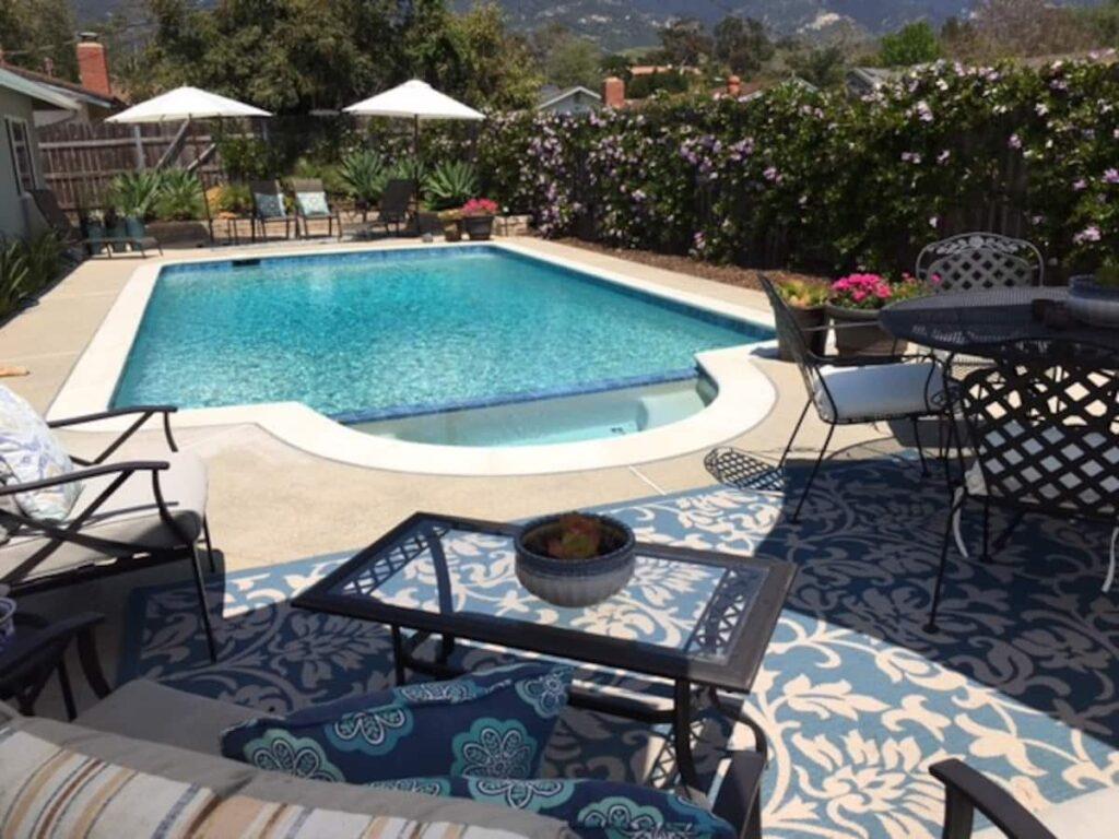 Poolside Retreat is the best Santa Barbara airbnb with pool