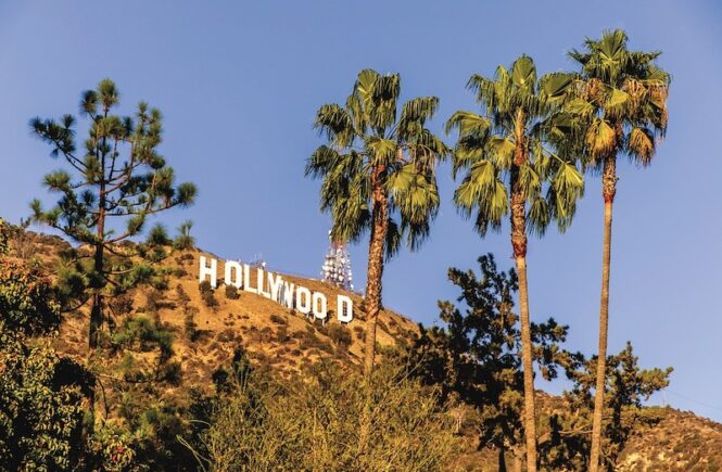 Hollywood Sign in Hollywood Hills in Los Angeles, Califronia