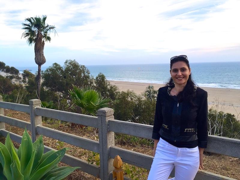 Milijana Gabrić in Santa Monica