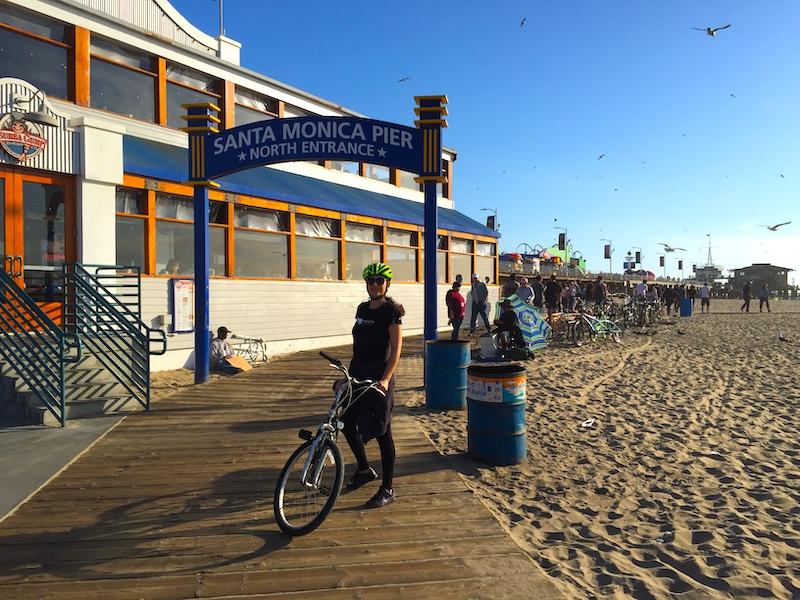 Santa Monica Pier and Milijana