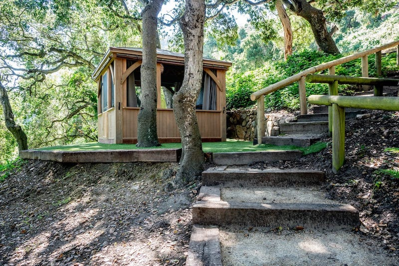 This gazebo is one of the best Big Sur glamping sites