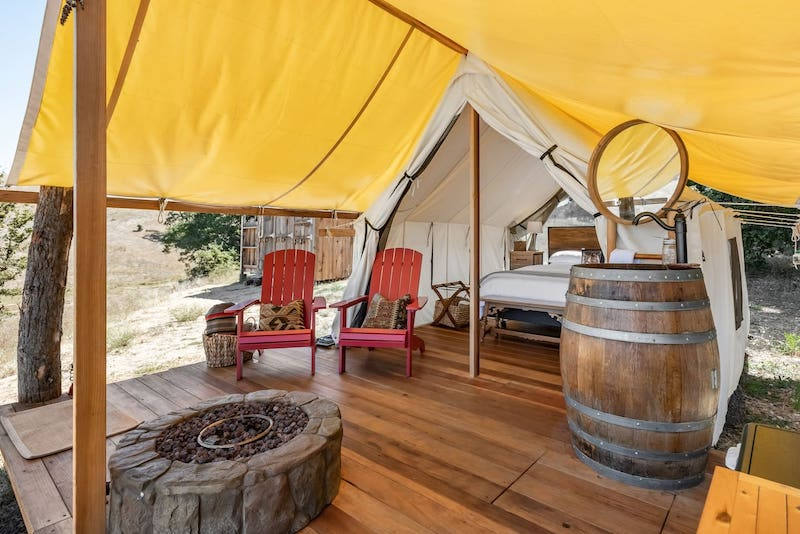 his luxury tent is one of the best Big Sur glamping sites