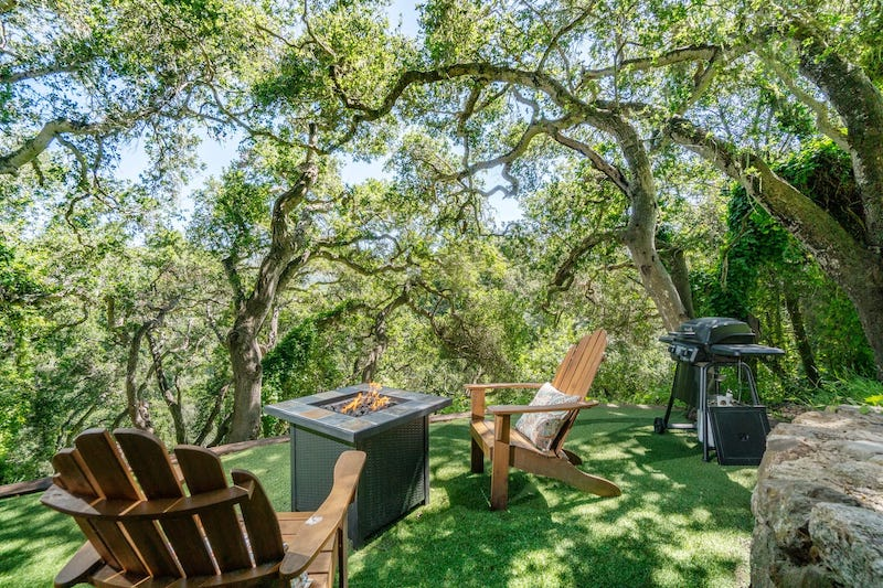 Patio of the best gazebo for the ultimate Big Sur glamping