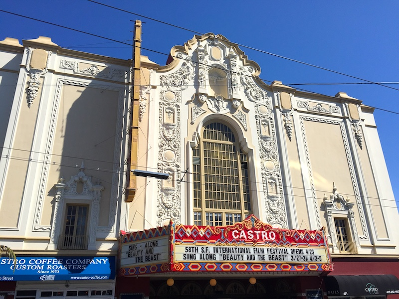 Castro district with iconic Castro Theater is one of the best areas to stay in San Francisco for LBTQ people