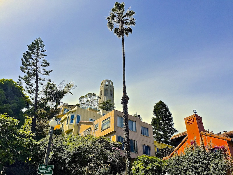 Telegraph Hill with Coit Tower is one of the best areas to stay in San Francisco