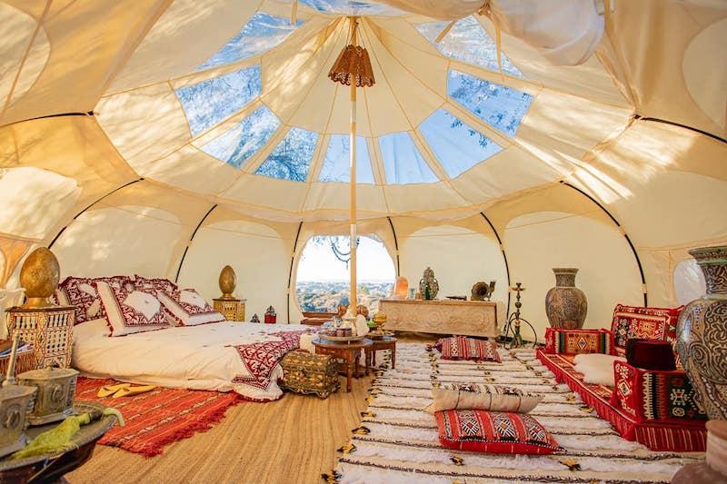 Airbnb tent near Malibu