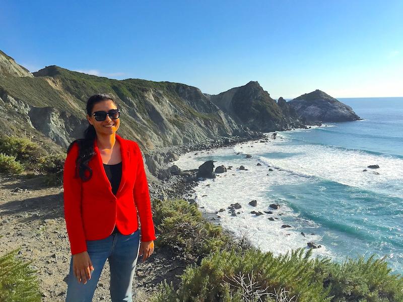 Milijana Gabrić in Big Sur in California