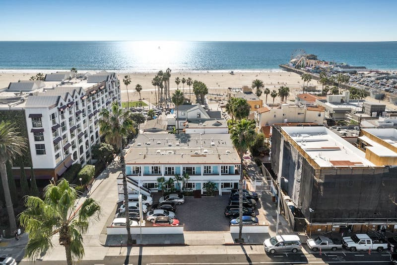 this beach hotel is one of the best airbnbs in Santa Monica