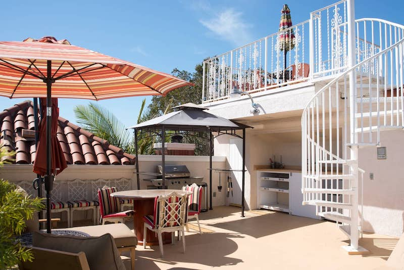 The Airbnb villa with a roof top deck is one of the best airbnbs in Santa Monica