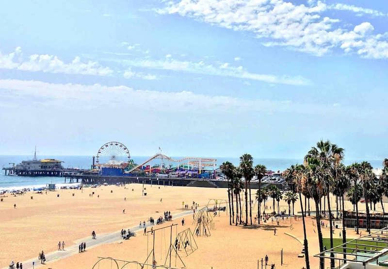 Santa Monica pier LA