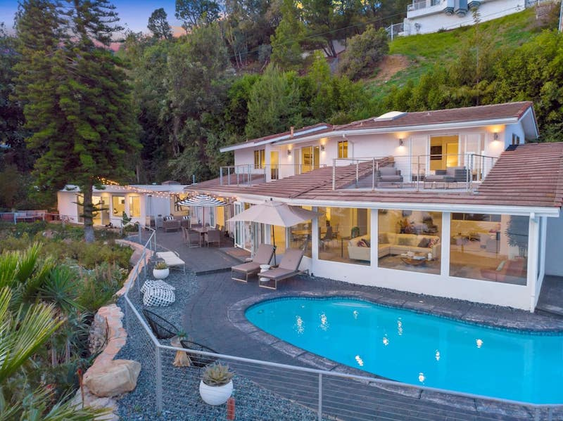 this house with a pool is one of the best airbnbs in Malibu