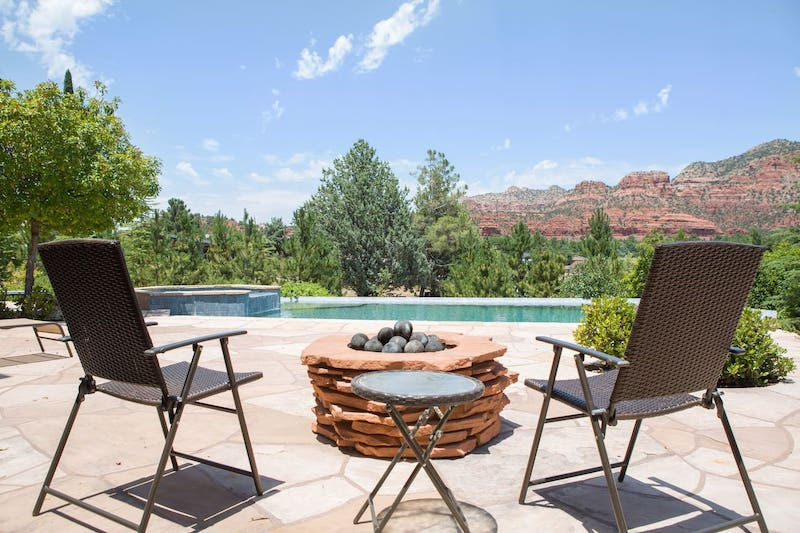 Pool of one of the best Sedona Airbnb rentals