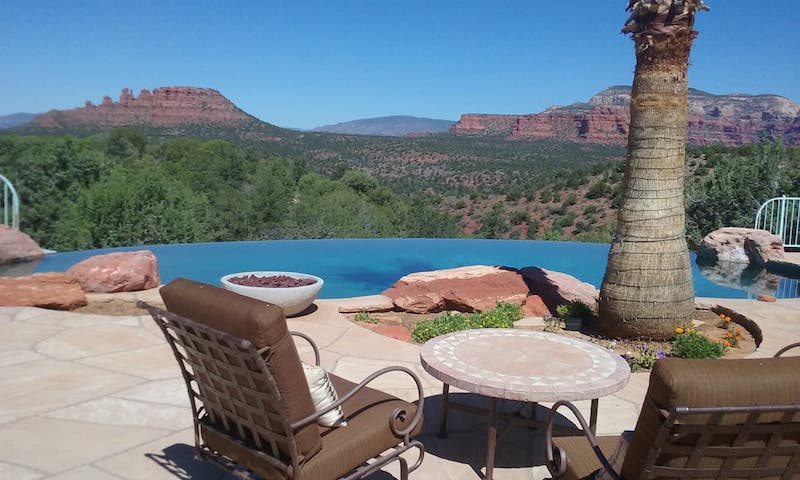This house with pool is one of the best airbnbs in Sedona
