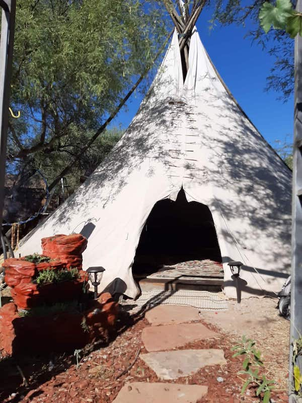 This Native American tipi is one of the most amazing Sedona airbnbs