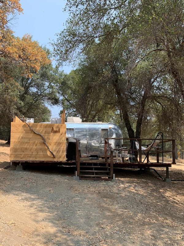 This airstream offers top glamping in Yosemite