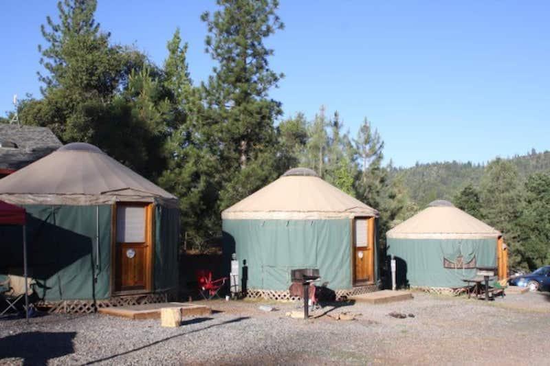 Yurts for glamping in Yosemite