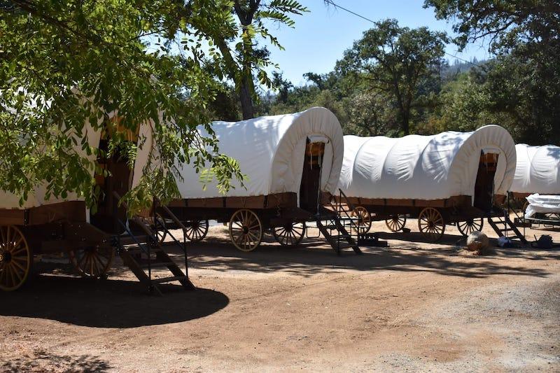 Wagons for glamping in Yosemite