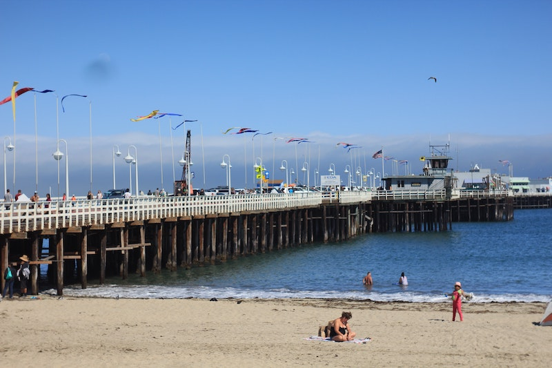Some of the best beachfront Santa Cruz rentals are near Santa Cruz Wharf