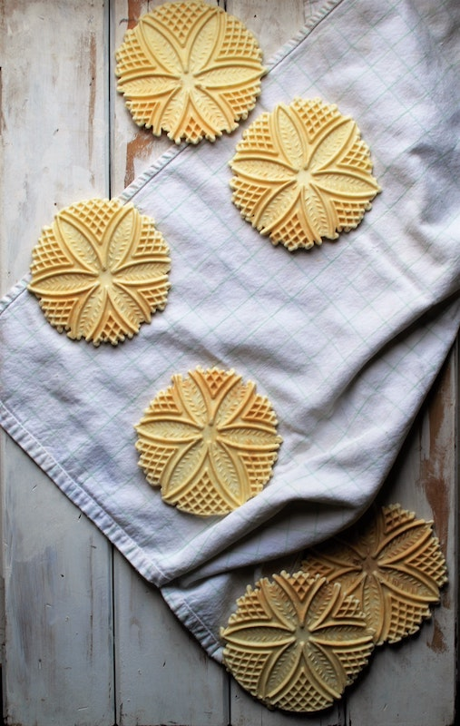 Pizzelle waffle cookies are some of the most popular desserts in Italy