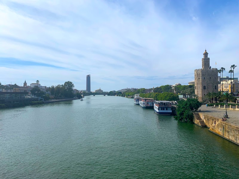 Strolling the banks of river Guadalquivir is one of the best things to do in Seville
