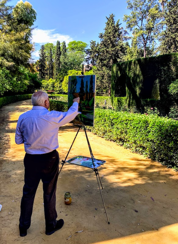 Exploring wonderful Alcazar Gardens is one of the most beautiful things to do in Seville