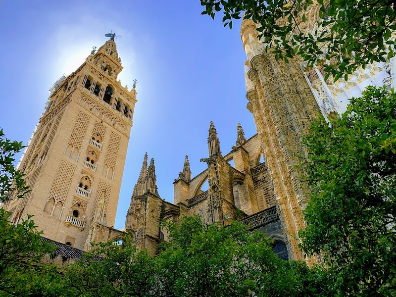 Climbing Giralda Tower for the panormaic views of Seville is one of the best things to do in Seville