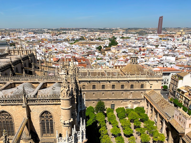 Climbing the Giralda Tower is one of the best things to do in Seville in Spain