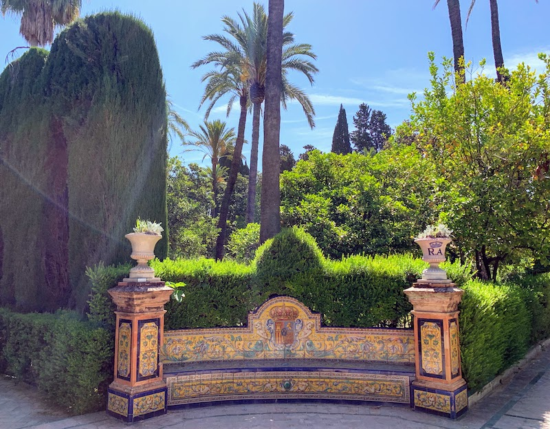 Strolling Alcazar Gardens is one of the best things to do in Seville Spain