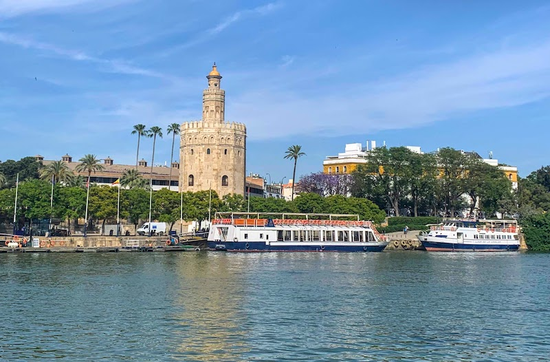 Climbing Torre del Oro for amazing views of Seville is one of the top things to do in Seville