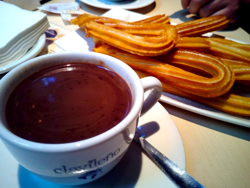 Churros con chocolate is one of the most traditional Spanish desserts in Spain